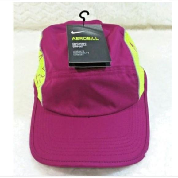 6fc5c52f74c Nike AeroBill Running Cap Hat Purple Dri Fit